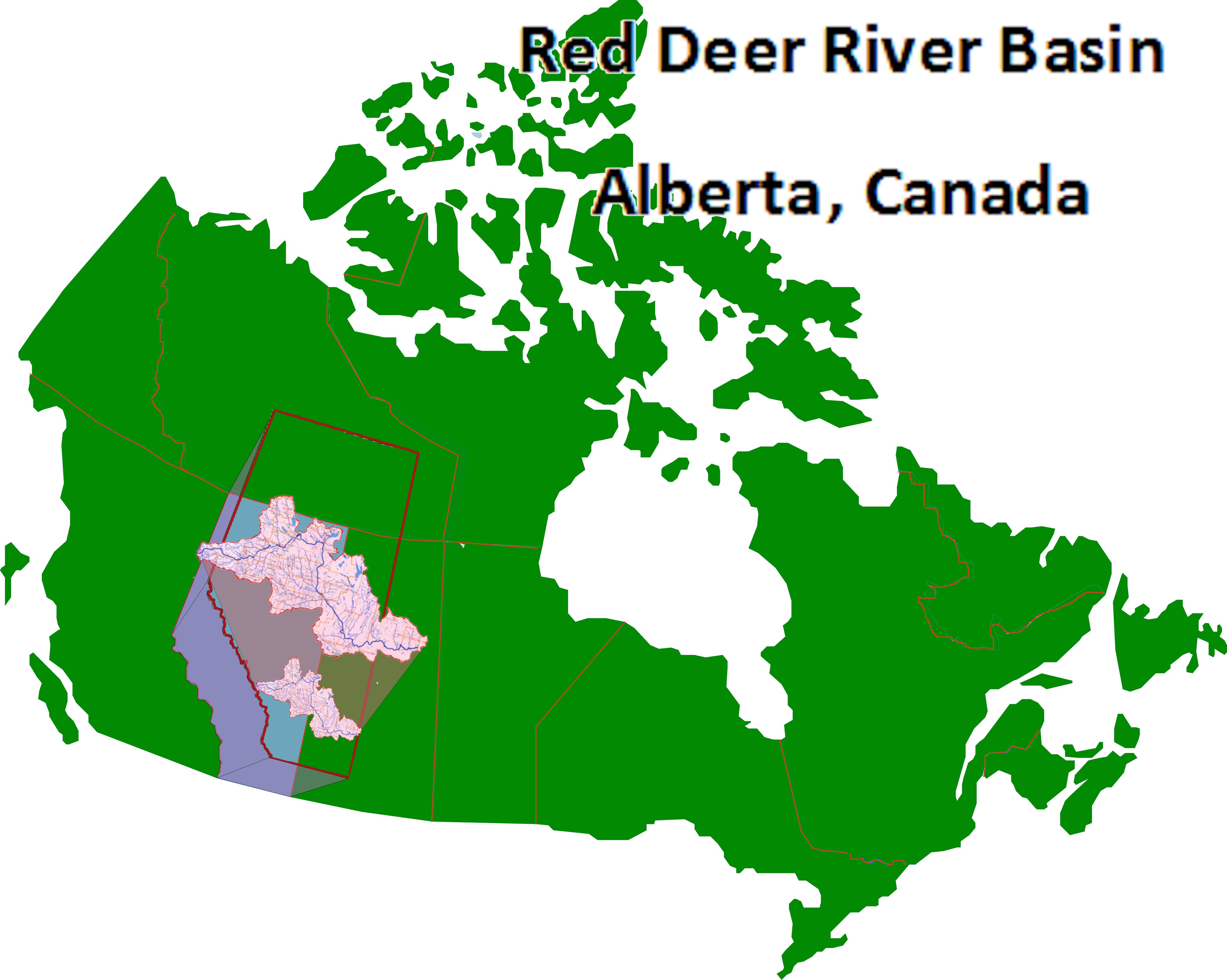 Map Of Canada Red.River Basin Red Deer River Naturalists