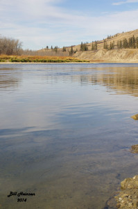 Red Deer River at Garrington Bridge.